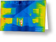 A Thermogram Of A Person Waving In House Greeting Card