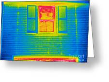 A Thermogram Of A Window Greeting Card