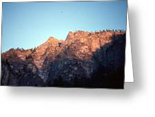 A Touch Of Alpenglow Greeting Card