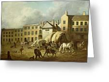 A Town Scene  Greeting Card by George Garrard