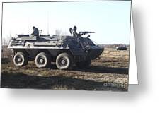 A Tpz Fuchs Armored Personnel Carrier Greeting Card
