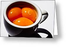 A Triple Eggspresso Greeting Card