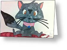 A Trouble Cat Greeting Card