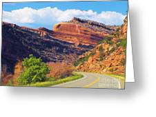 A Turn In The Road Greeting Card