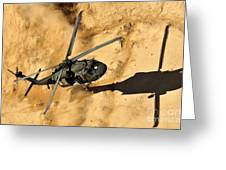 A Uh-60 Black Hawk Helicopter Comes Greeting Card