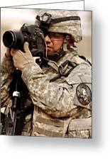 A U.s. Air Force Combat Cameraman Greeting Card by Stocktrek Images