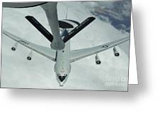 A U.s. Air Force E-3 Sentry Moves Greeting Card