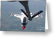 A U.s. Air Force Thunderbird Pilot Greeting Card