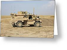 A U.s. Army Cougar Mrap Vehicle Greeting Card