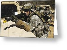 A U.s. Army Soldier Pulls Security Greeting Card