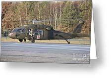 A U.s. Army Uh-60l Blackhawk Greeting Card