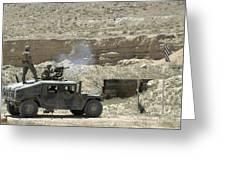 A U.s. Marine Fires A Mark 19-3 40mm Greeting Card
