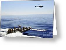 A U.s. Navy Uh-1n Huey Helicopter Greeting Card