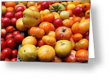 A Variety Of Fresh Tomatoes - 5d17811 Greeting Card by Wingsdomain Art and Photography