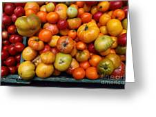 A Variety Of Fresh Tomatoes - 5d17812 Greeting Card