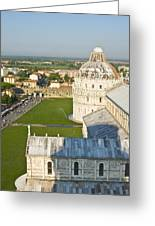 A View From The Bell Tower Of Pisa  Greeting Card