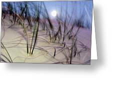 A View Of A Full Moon Rising Greeting Card