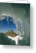 A View Of A Mountain Summit Greeting Card