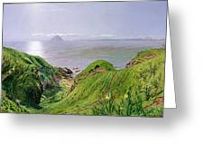 A View Of Ailsa Craig And The Isle Of Arran Greeting Card