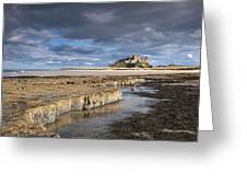 A View Of Bamburgh Castle Bamburgh Greeting Card