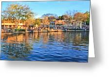 A View Of Disneyland From Tom Sawyer Island  Greeting Card