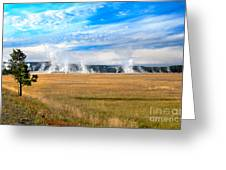 A View Of Geysers  Greeting Card