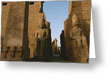 A View Of Luxor Temple Greeting Card