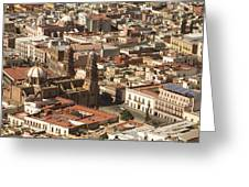 A View Of The Historic Center Greeting Card