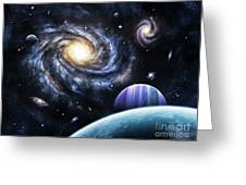 A View To A Nearby Galaxy From A Gas Greeting Card