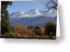 A View Toward Mt Shasta In Autumn Greeting Card