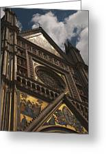 A View Upward At The Duomo Di Orvieto Greeting Card
