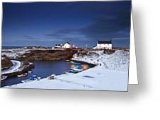 A Village On The Coast Seaton Sluice Greeting Card
