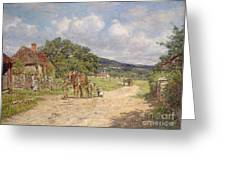 A Village Scene Greeting Card