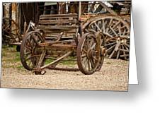 A Wagon And Wheels Greeting Card