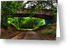 A Walk Along The Tracks Greeting Card