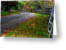 A Walk In An Autumn Afternoon Greeting Card