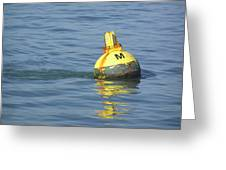 A Water Buoy In The Blue Water Of San Francisco Bay Greeting Card