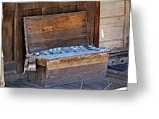 A Weathered Bench Greeting Card