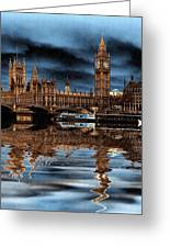 A Wet Day In London Greeting Card