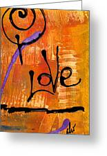 A Whirlwind Called Love Greeting Card