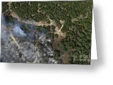 A Wildfire Burns Land Near Austin Greeting Card