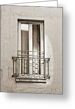 A Window In Paris Greeting Card