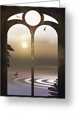 A Window To The Sunset Greeting Card by Tom York Images