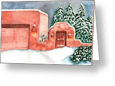A Winter Clad Santa Fe Greeting Card