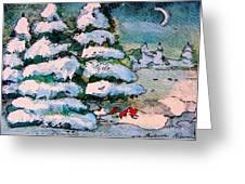A Winter Feast Greeting Card