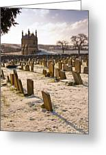 A Winter Graveyard Greeting Card