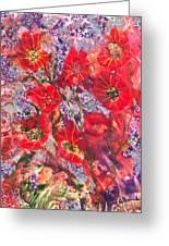 A Winter Healing Garden Greeting Card