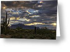 A Winter Sunrise In The Desert  Greeting Card