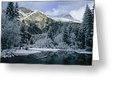 A Winter View Of The Merced River Greeting Card