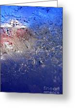 A Wintry Icy Window Greeting Card